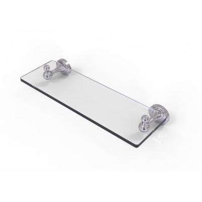 Sag Harbor Collection 16 in. Glass Vanity Shelf with Beveled Edges in Polished Chrome