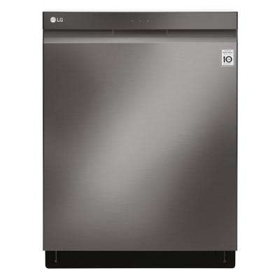 Top Control Tall Tub Dishwasher with 3rd Rack in Black Stainless Steel with Stainless Steel Tub