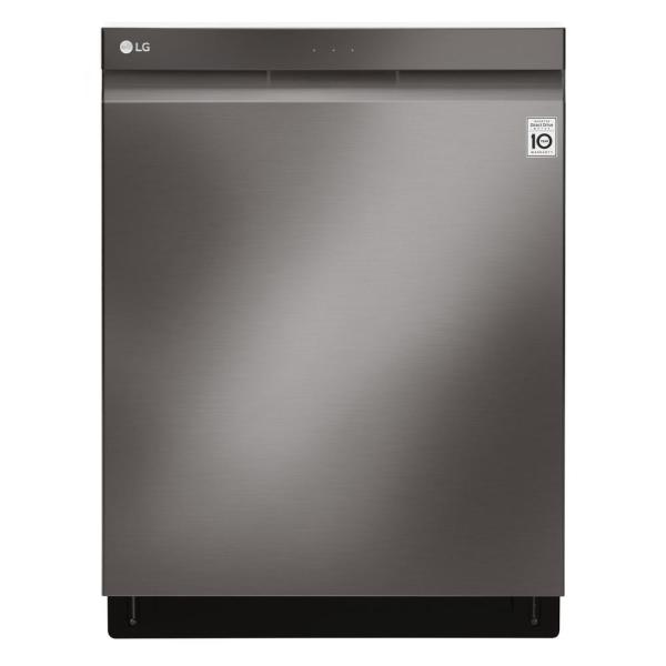 LG Electronics Top Control Tall Tub Smart Dishwasher w/ 3rd Rack, WiFi Enabled in Black Stainless Steel w/ Stainless Steel Tub, 44 dBA
