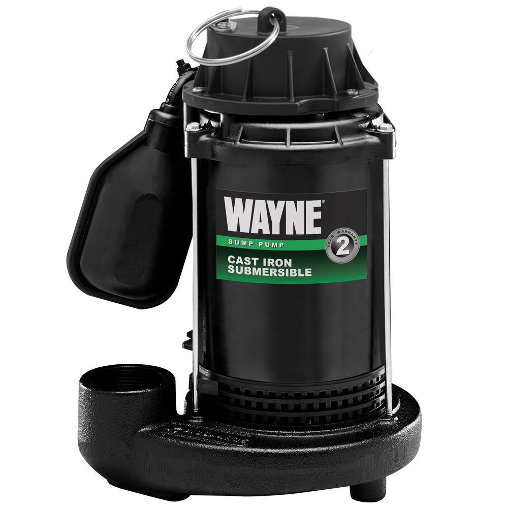 Wayne 1/2 HP Cast Iron Sump Pump with Tethered Float Switch-DISCONTINUED