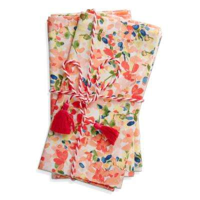 Petals 20 in. x 20 in. Multicolor Napkins (4-Pack)
