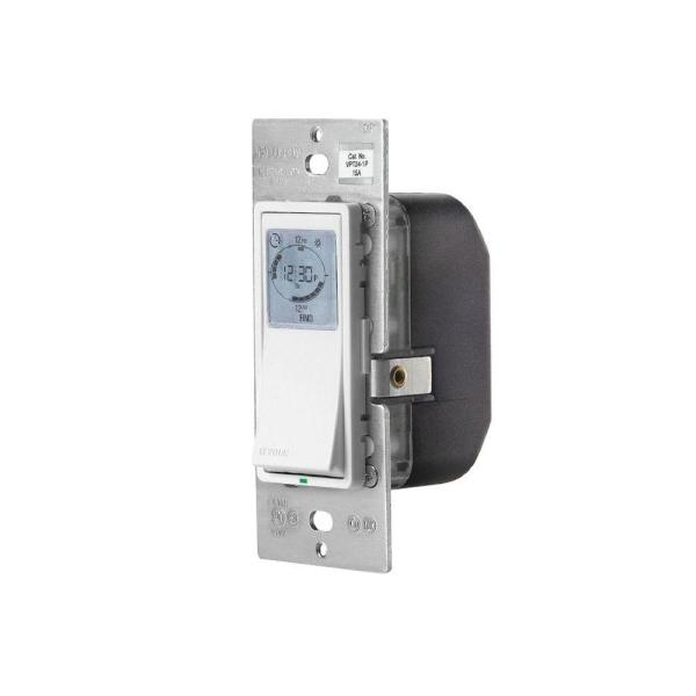 Decora 24-Hour Programmable Timer for 1800-Watt Incandescent/Halogen, 15A Resistive/Inductive, 1HP