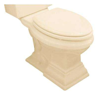 Town Square Tall Height (16-1/2 in.) Round Front Toilet Bowl with Seat in Bone