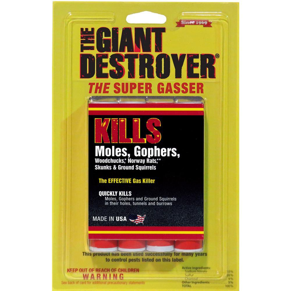 Giant Destroyer 1.75 Oz. Super Gasser Pest Killer (4-Pack