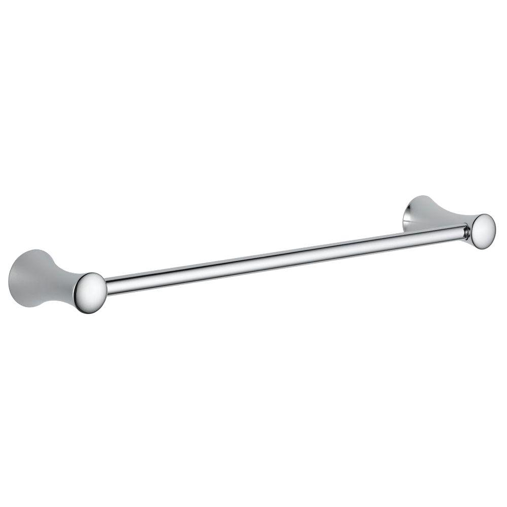 delta lahara towel bar delta lahara 18 in towel bar in chrome 73818 the home depot 6535
