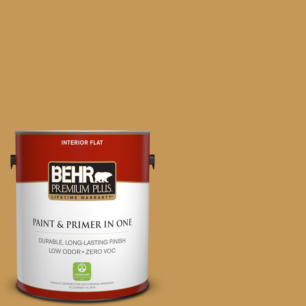 BEHR Premium Plus 1-gal. #PMD-104 Amber Glass Zero VOC Flat Interior Paint