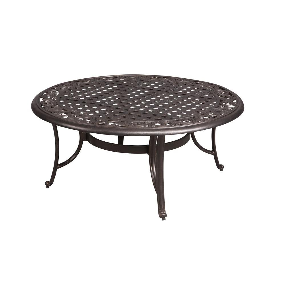Aluminum Patio Coffee Table: Hampton Bay Edington 42 In. Round Patio Coffee Table-131