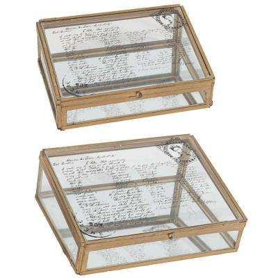 10 in. x 3.5 in. Decorative Boxes (2-Pack)
