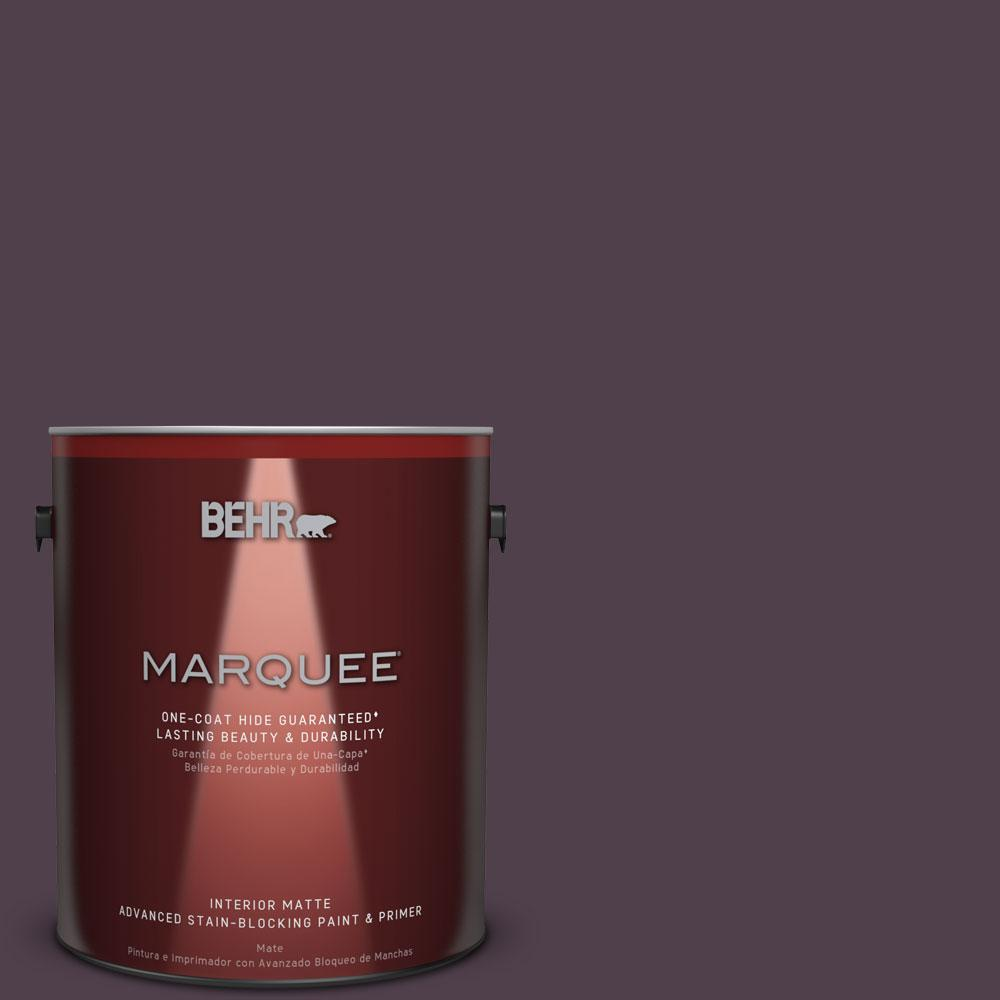 1 gal. #T13-10 Plum Orbit Matte Interior Paint