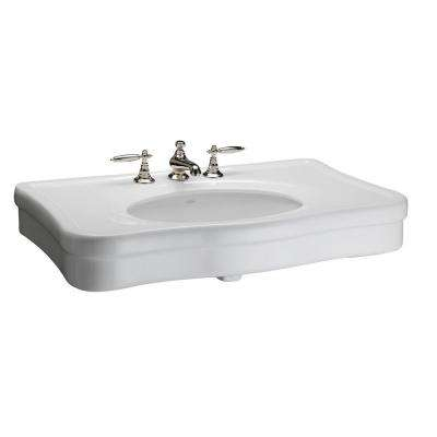 Versailles 36 in. Console Sink Basin in White