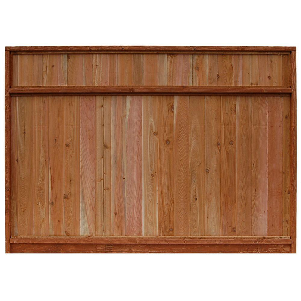 Signature Development 6 ft. H x 8 ft. W Western Red Cedar Solid Top Fence Panel
