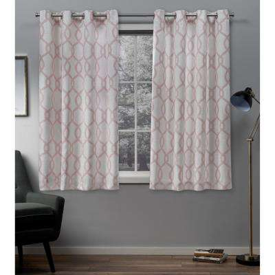Kochi Blush Grommet Top Curtain Pair