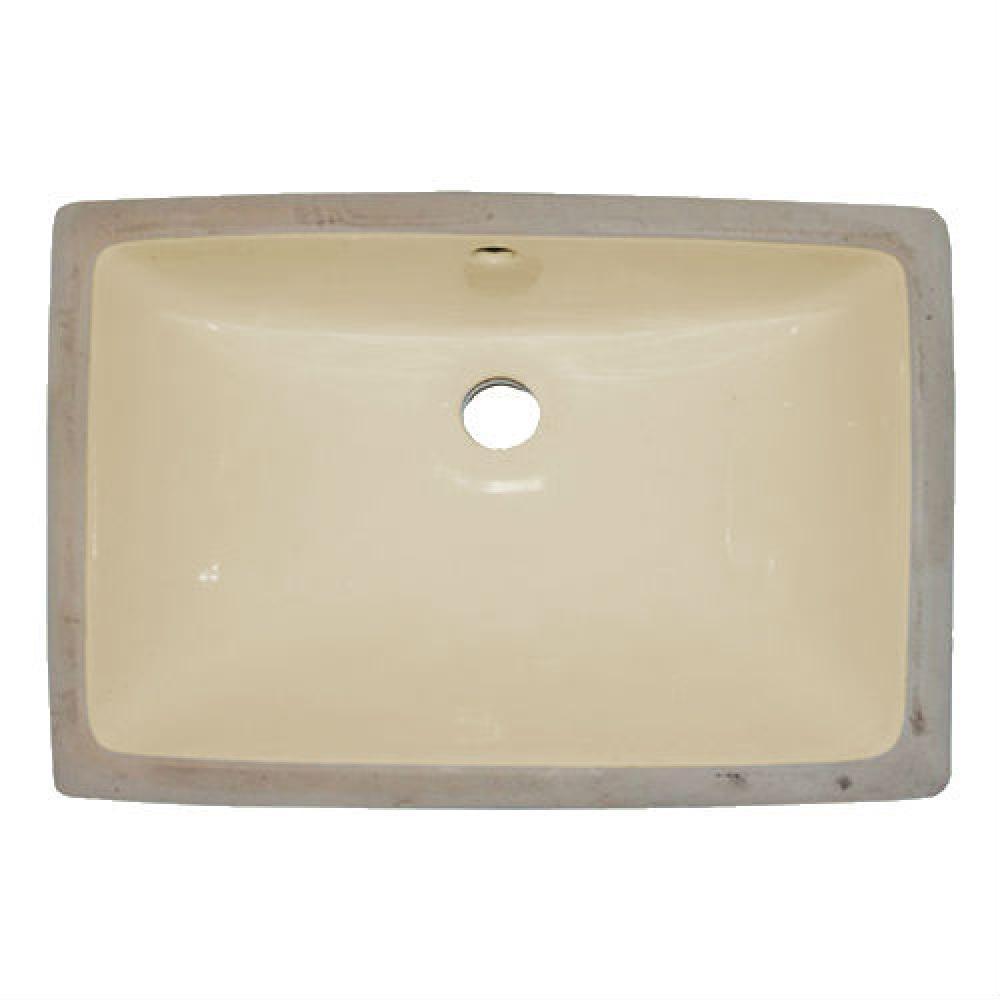 Undermount Ceramic 18.5 in. Basin in Ivory