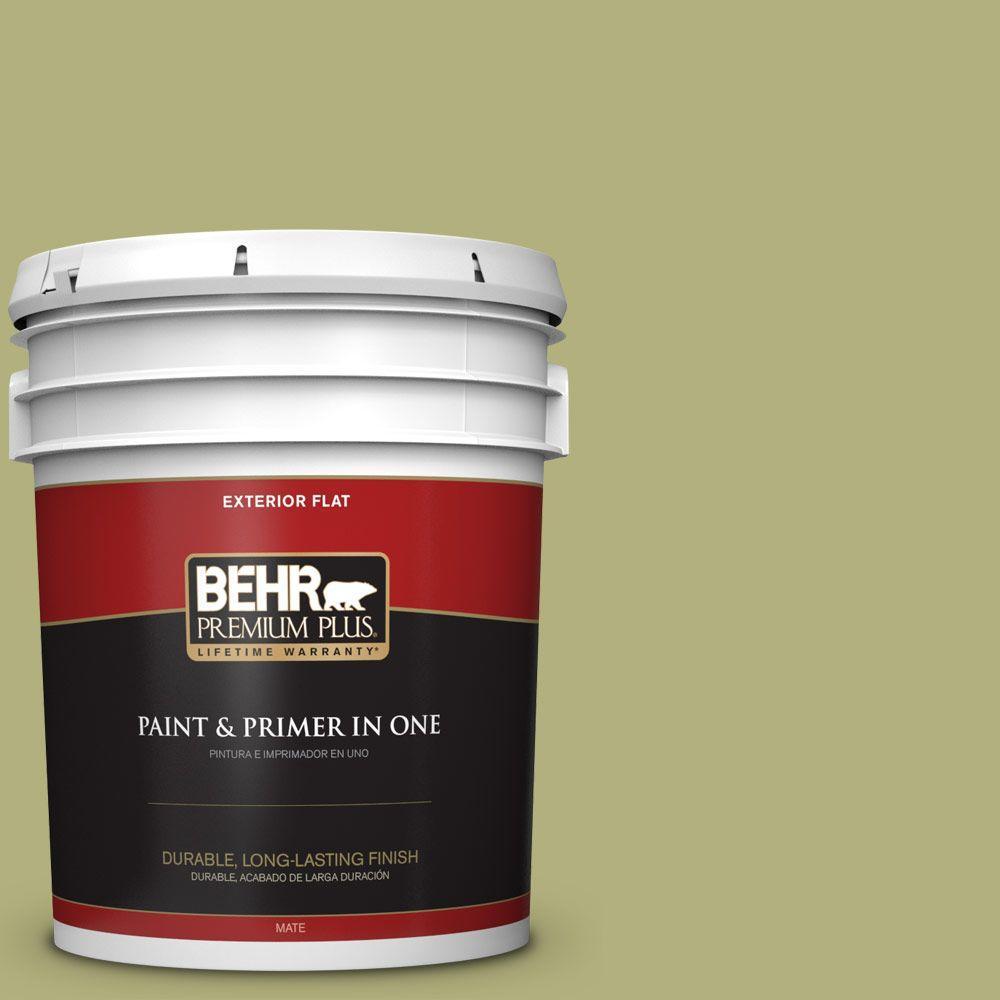 5-gal. #M340-5 Fresh Artichoke Flat Exterior Paint