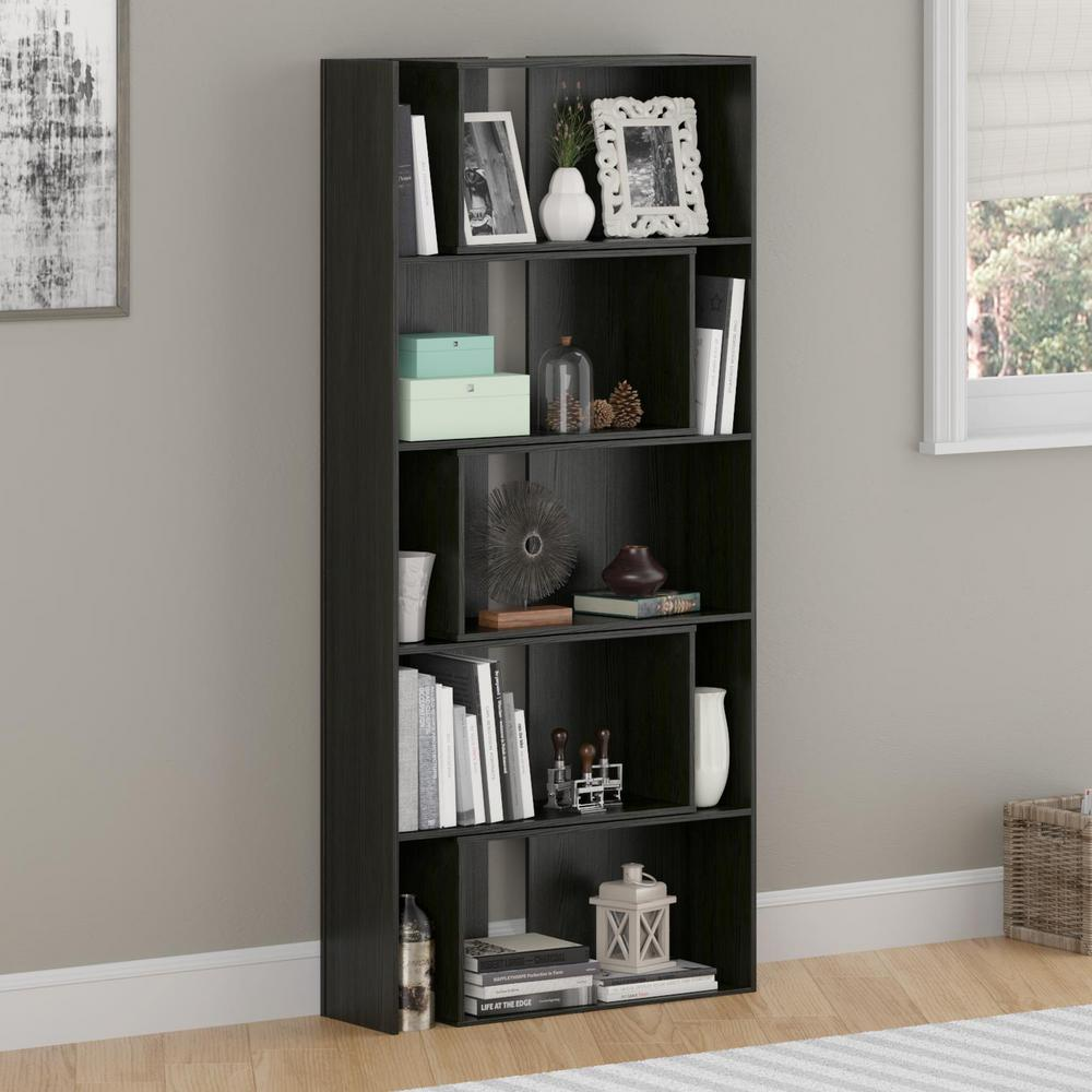 expandable furniture. unique expandable altra furniture transform midnight onyx expandable open bookcase on
