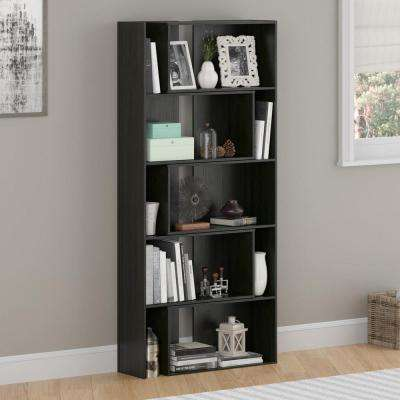 Transform Midnight Onyx Expandable Open Bookcase