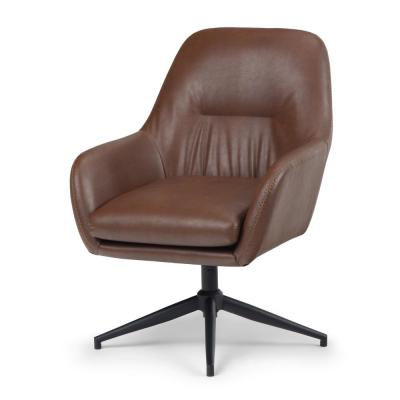 Simpli Home Johnson Swivel Brown Adjustable Executive Computer Office Chair As Low As 234 19 Upc 840469053557 Dexter Clearance