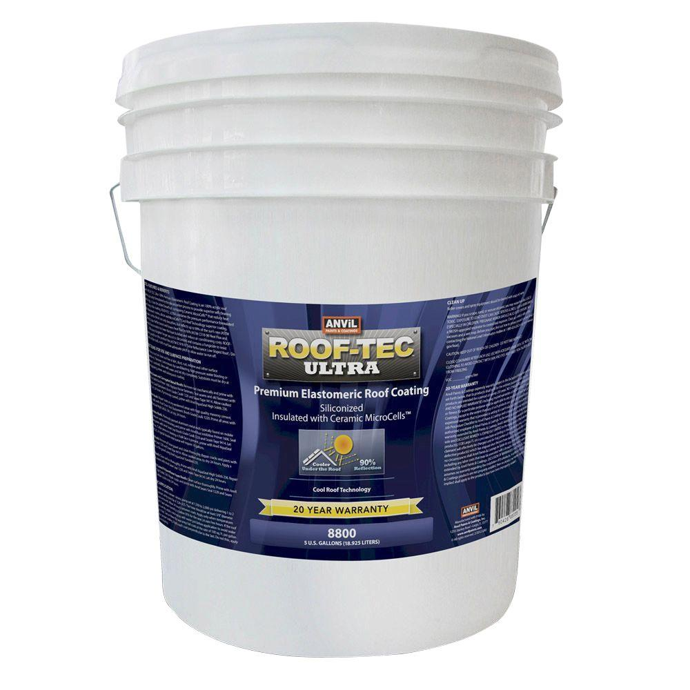 Anvil Roof Tec Ultra 5 Gal Siliconized And Microcell