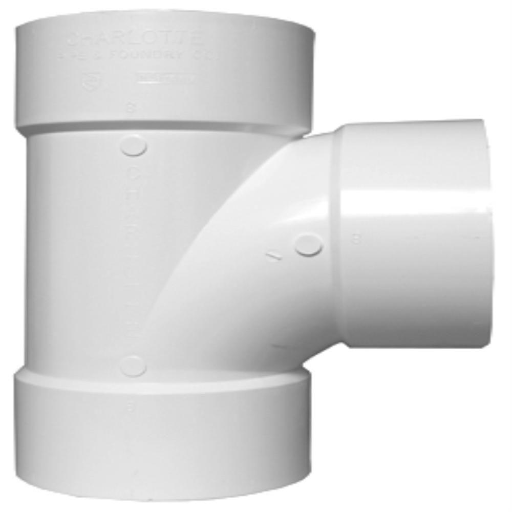 Charlotte pipe in pvc dwv sanitary tee