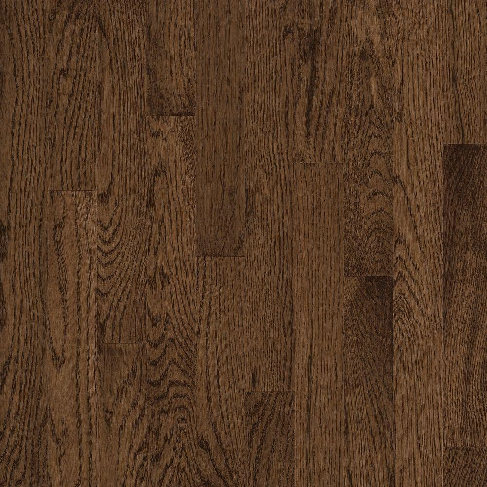 Bruce take home sample natural reflections oak walnut for Real oak hardwood flooring
