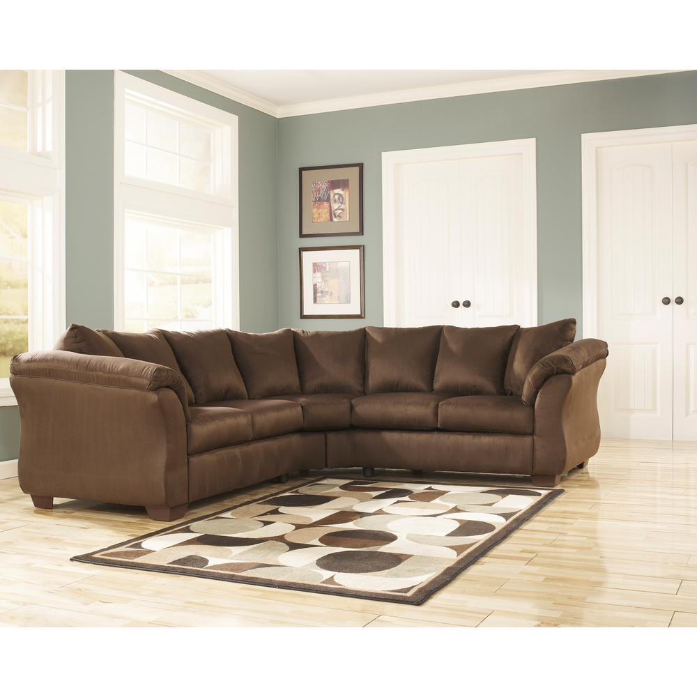 Flash Furniture Signature Design By Ashley Darcy Cafe Fabric Sectional