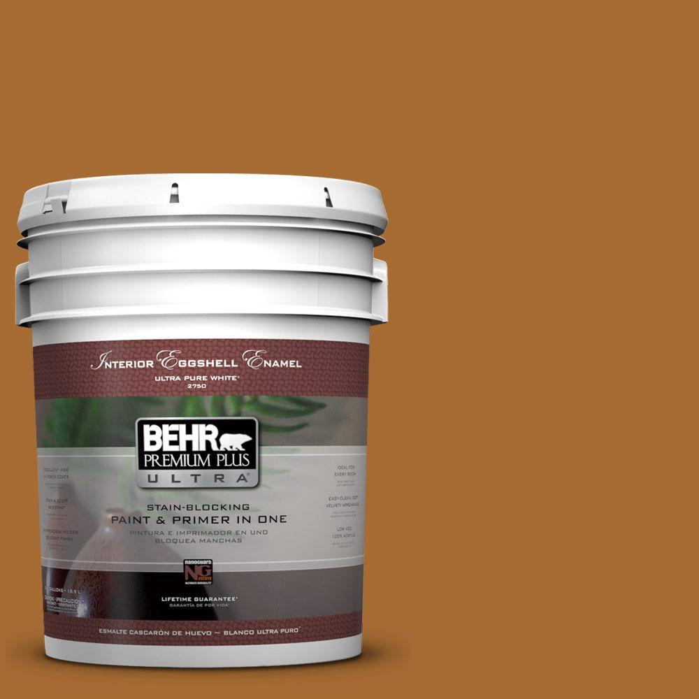 5 gal. #280D-7 Sesame Crunch Eggshell Enamel Interior Paint and Primer