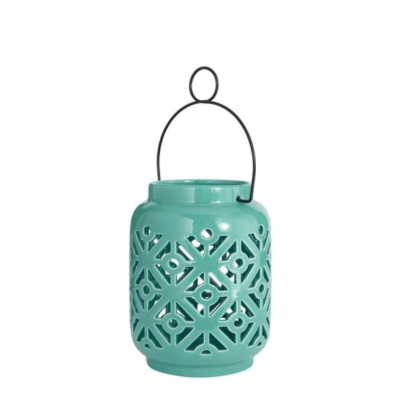 Haze Teal Blue Ceramic Outdoor Patio