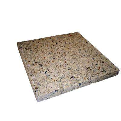 18 In. X 18 In.Paver   Buff With Shells And Abalone (99