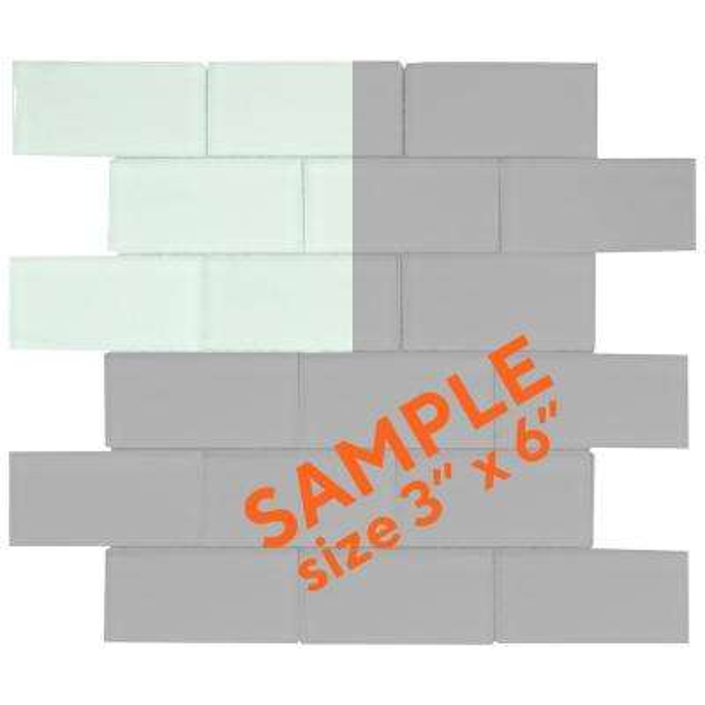 Siberian Gloss 3 in. x 6 in. x 8 mm Glass Mosaic Tile Sample