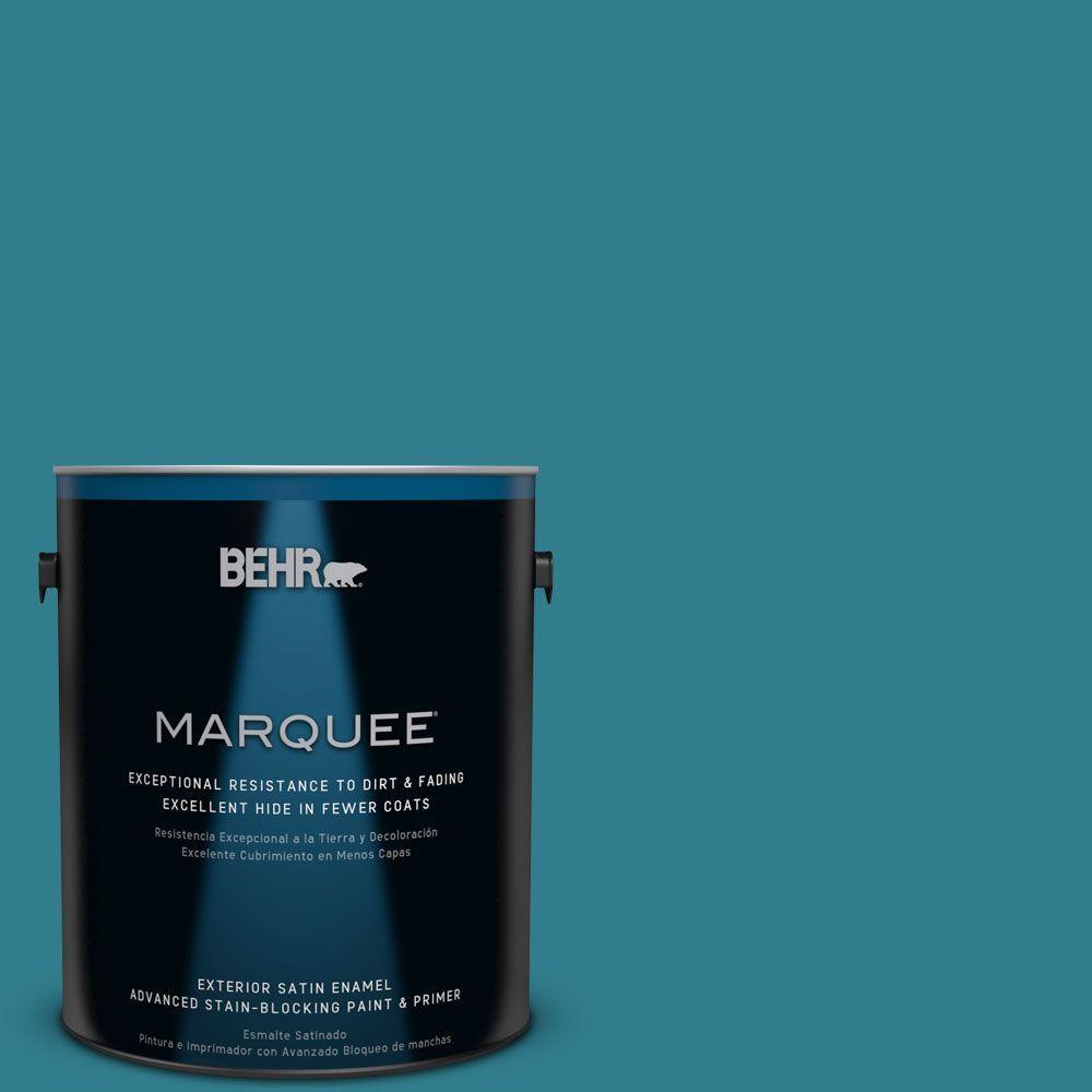 Home Decorators Collection 1-gal. #HDC-CL-27 Calypso Blue Satin Enamel Exterior