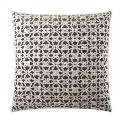 Liam Taupe Feather Down 24 in. x 24 in. Standard Decorative Throw Pillow