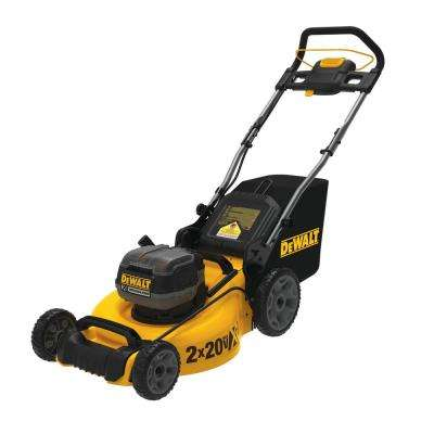 20 in. 20-Volt MAX Lithium-Ion Cordless Walk Behind Push Lawn Mower w/ (2) 9.0 Ah Batteries and Charger