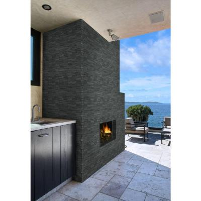 Neptune 3D 12 in. x 12 in. x 10mm Honed Basalt Mesh-Mounted Mosaic Tile (10 sq. ft. / case)