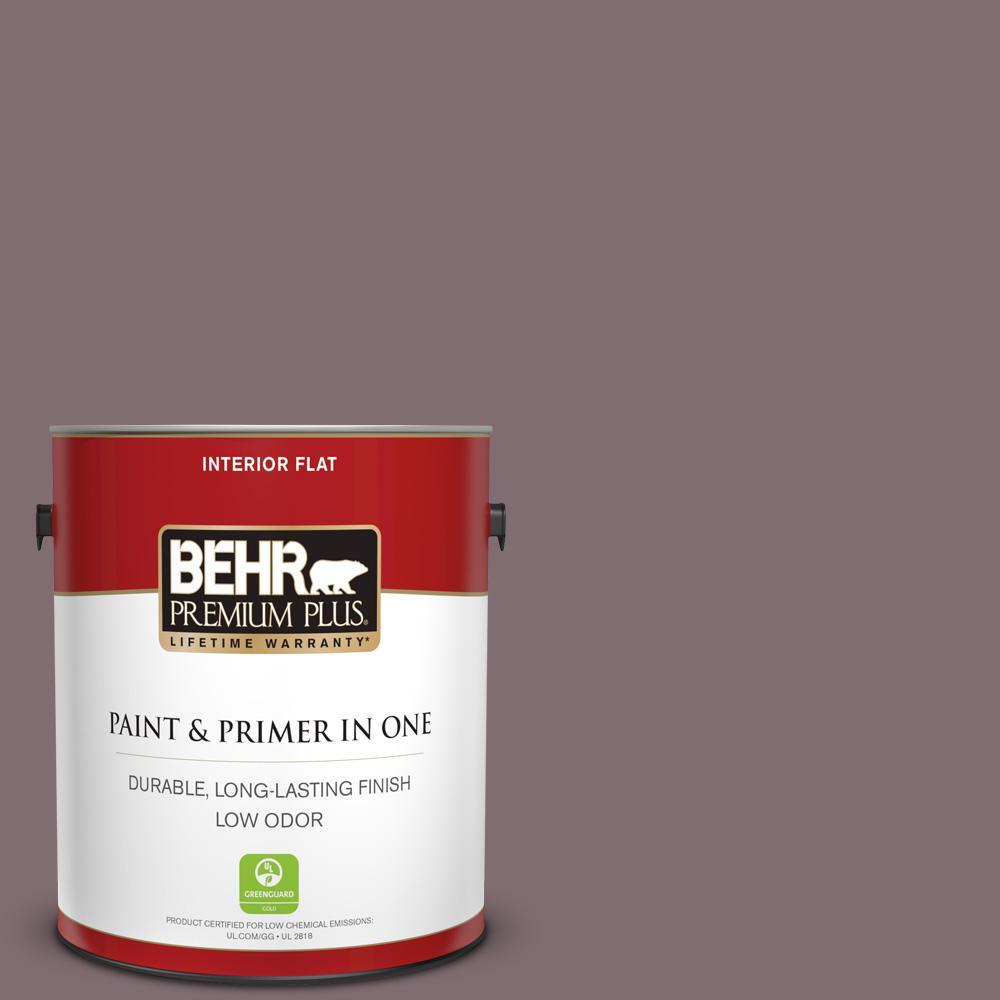 Behr Premium Plus 1 Gal N110 5 Royal Raisin Flat Low Odor Interior Paint And Primer In One