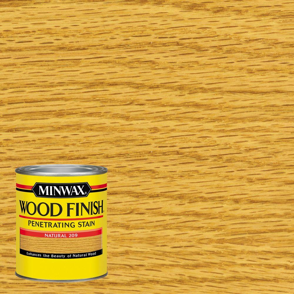 Minwax 1 Qt. Wood Finish Natural Oil Based Interior Stain