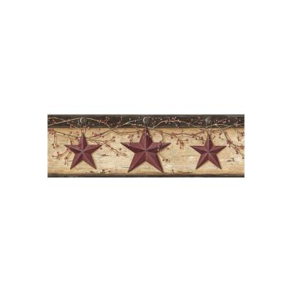 Graham Sand Rustic Star Trail Wallpaper Border Sample