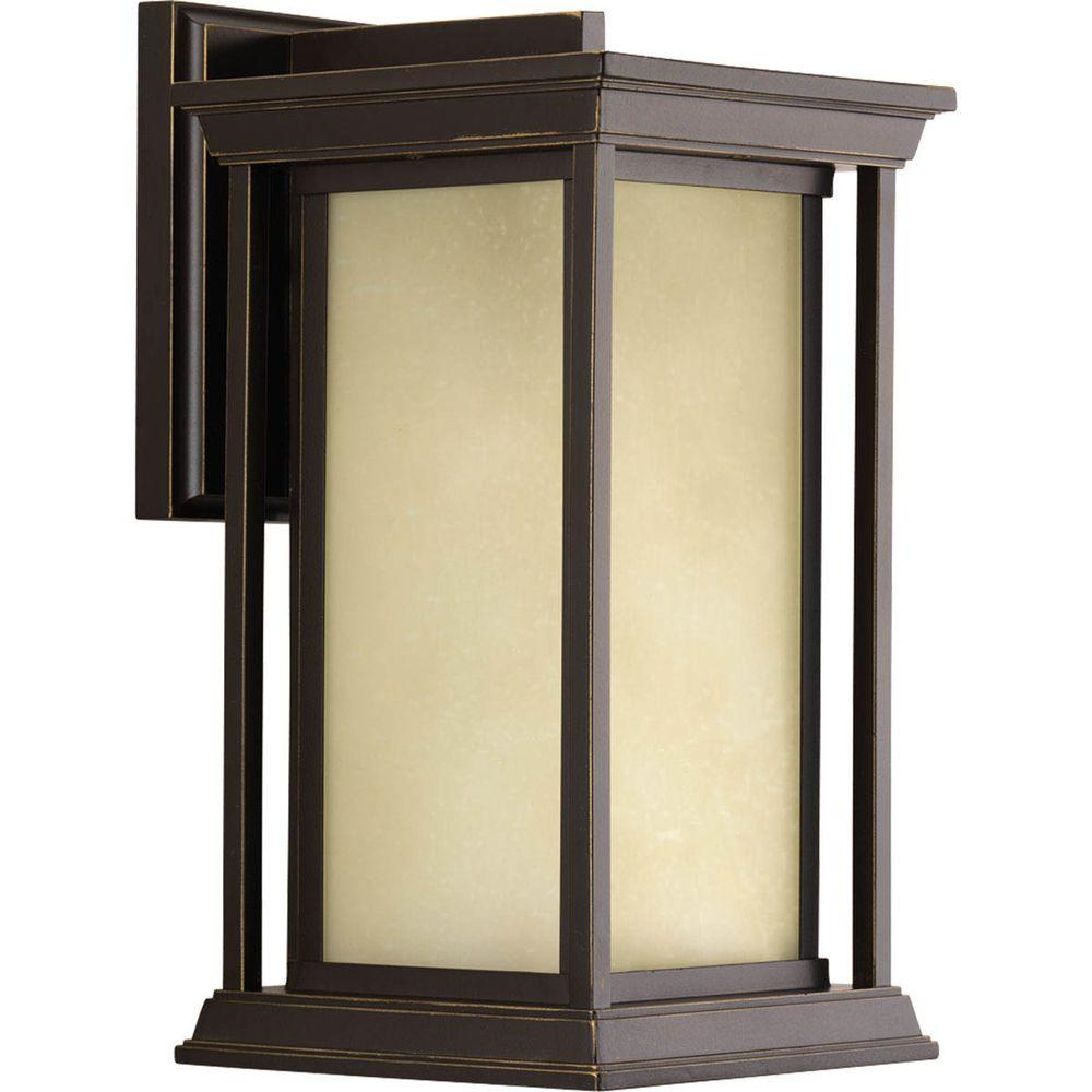 Endicott Collection 1-Light Outdoor Antique Bronze Wall Lantern