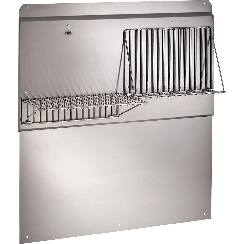 Broan 42 in. Backsplash with Shelves in Stainless Steel for Range Hood