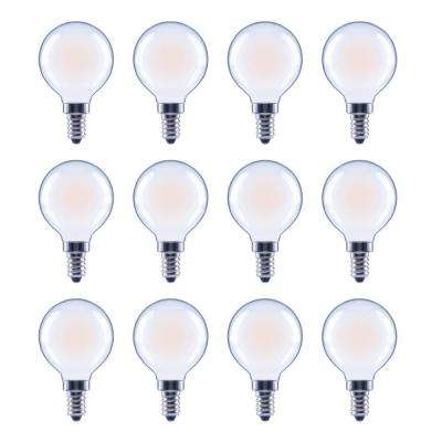 40-Watt Equivalent G16.5 Globe Dimmable ENERGY STAR Frosted Glass Filament Vintage LED Light Bulb Soft White (12-Pack)