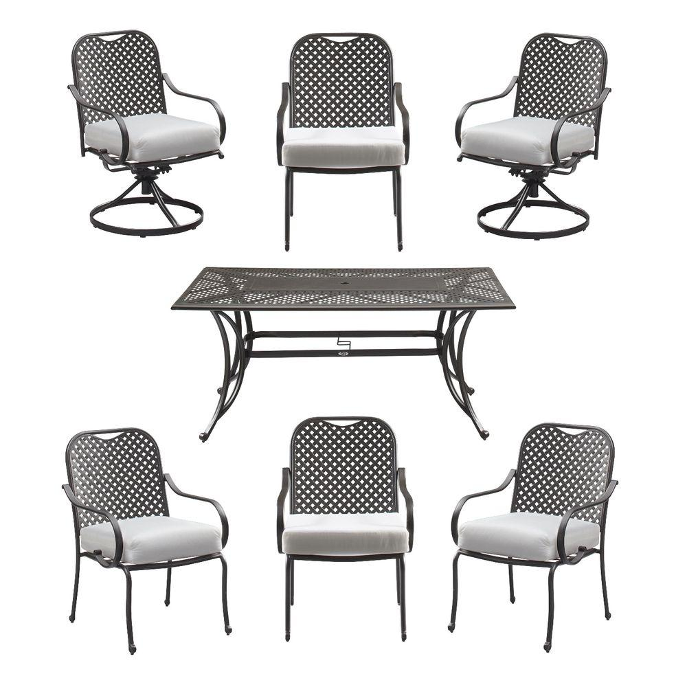 Fall River 7-Piece Patio Dining Set with Cushion Insert (Slipcovers Sold