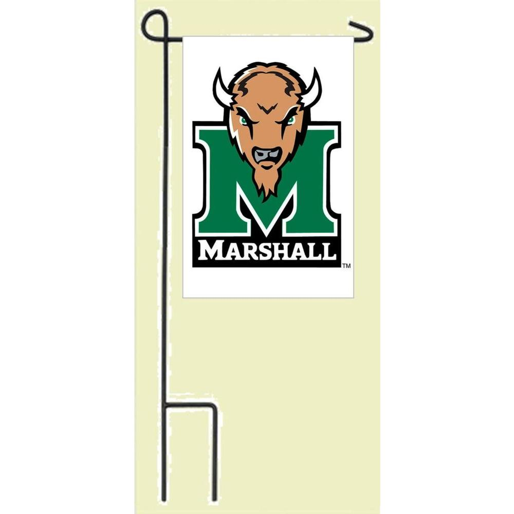 Evergreen Enterprises 3 ft. 8 in. Metal Flagpole with 12.5 in. x 18 in. Marshall University Decorative Flag