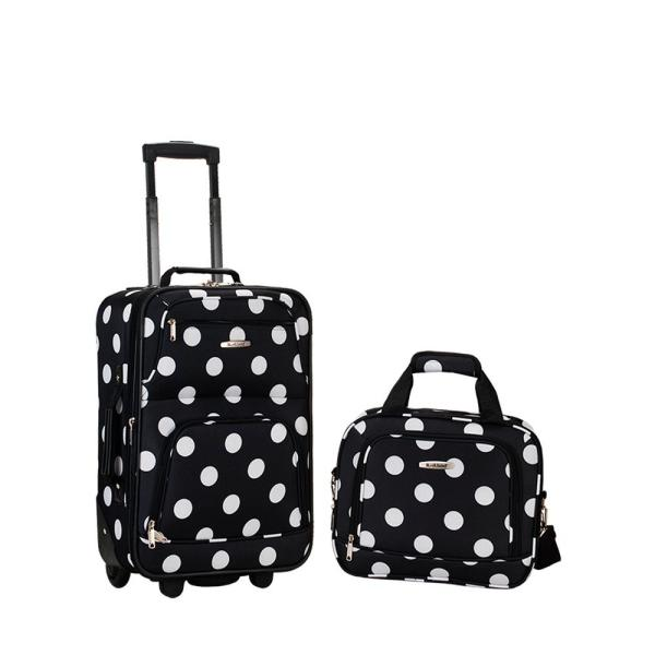Rio Expandable 2-Piece Blackdot Carry On Softside Luggage Set