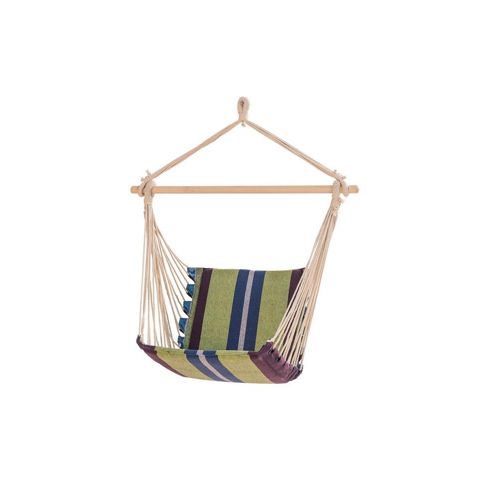 Sunjoy 3 3 Ft Portable Hammock Chair In Green Stripe 110209005 G