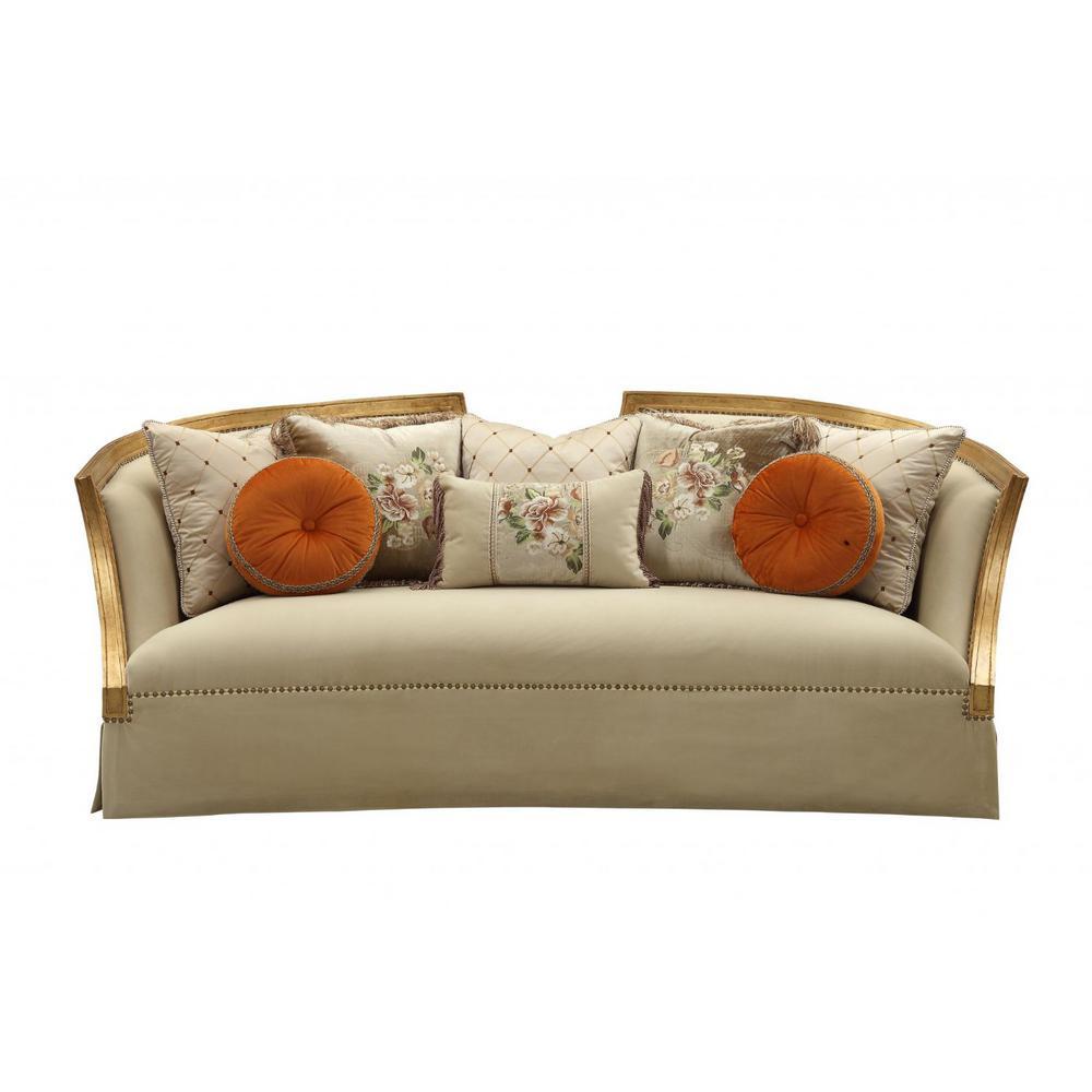 Amelia 4-Seats Beige Fabric Sofa