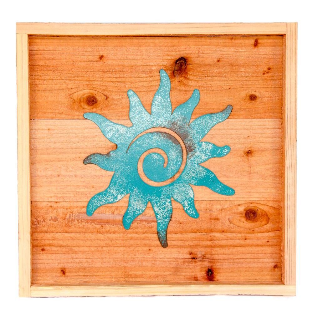 Hollis Wood Products 18 In X Wall Art With Patina Sun
