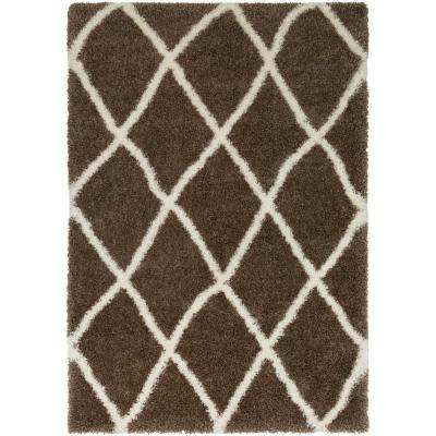 Cloudy Shag Camel 8 ft. x 10 ft. Indoor Area Rug