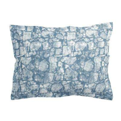 Bluestone Blue 100% Cotton Standard Sham