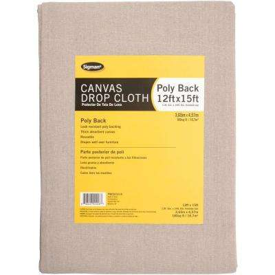 11 ft. 6 in. x 14 ft. 6 in. Poly Back Canvas Drop Cloth