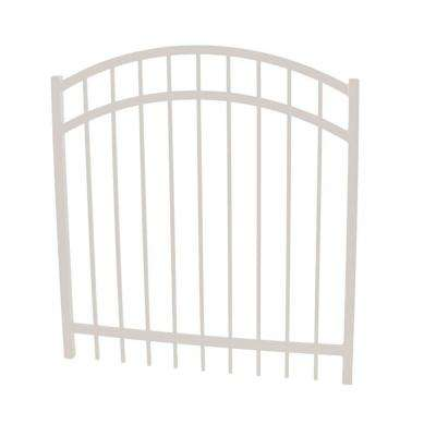 Vinnings 5 ft. W x 4 ft. H White Aluminum Arched Fence Gate