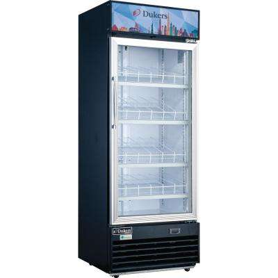 11.4 cu. ft. Commercial Single Glass Swing Door Merchandiser Refrigerator in Black